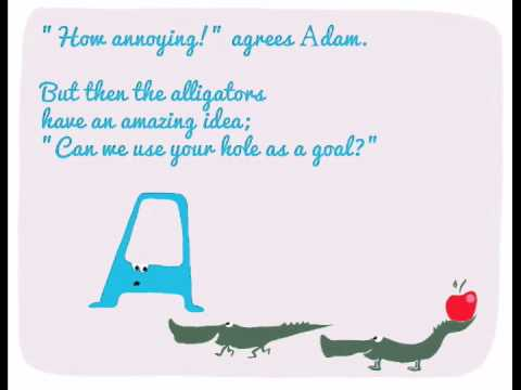 The alphabet for kids. Letter A: Adam gets Annoyed