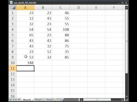 Quickly Copy/Paste Data, Formulas, Text in Excel Using the Quick Fill Handle