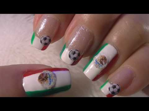 World Cup Mexico Nail Art Tutorial / FIFA Mundial Mexico Arte para las unas