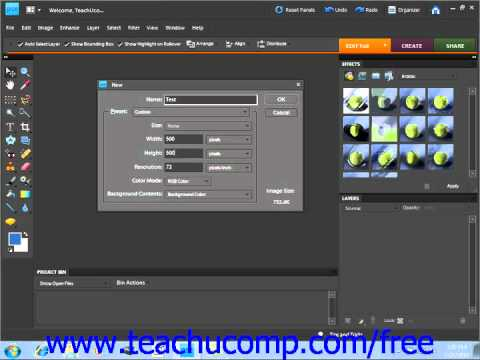 Photoshop Elements 9.0 Tutorial Creating New Images Adobe Training Lesson 4.4