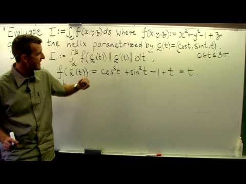 Path integral (scalar line integral) from vector calculus