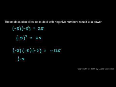 Prealgebra 2.04b Negative Numbers Raised to a Power