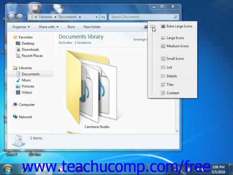 Windows 7 Tutorial Changing Window Views Microsoft Training Lesson 1.8