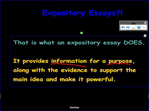 Why Expository Essays?!