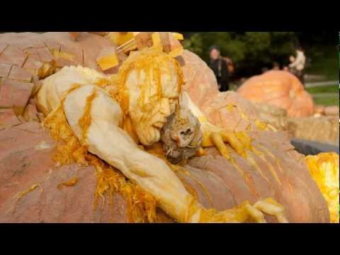 Ray Villafane's Gruesome Pumpkin Sculpture at NYBG