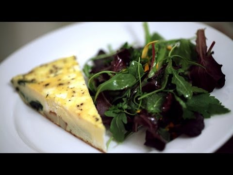 Veggie Frittata w/ Goat Cheese Recipe (How to Make It) || Kin Eats
