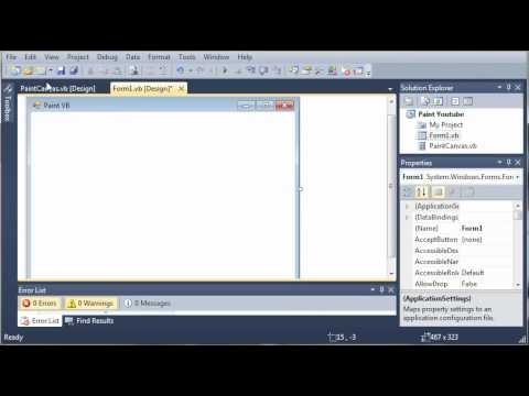 Visual Basic Tutorial - 168 - Paint Part 1   Custom Controls