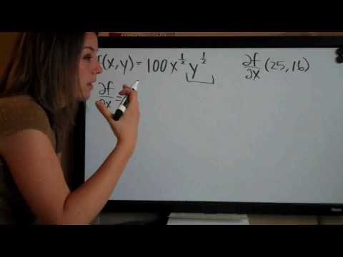 Partial Derivatives Example 9