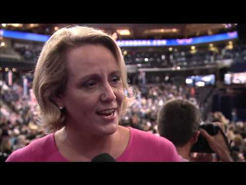 On the DNC Floor, Stephanie Schriock Talks Women in Politics