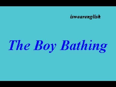The Boy Bathing  - Aesop's Fables -  ESL British English Pronunciation