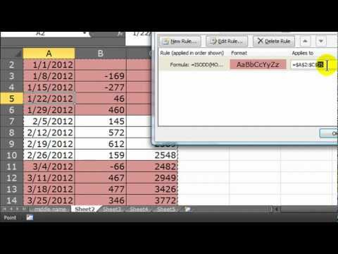 Use Conditional Formatting in Excel to Format Certain Months