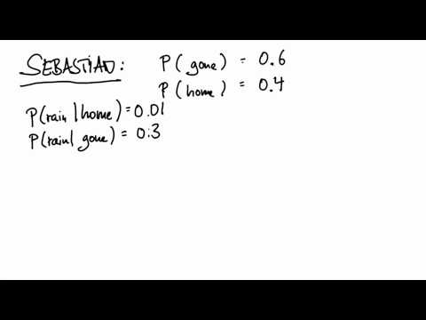 Sebastian at Home - Intro to Statistics - Bayes Rule - Udacity
