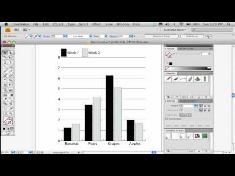 Part 1 of 2. How to make a bar chart in Adobe Illustrator