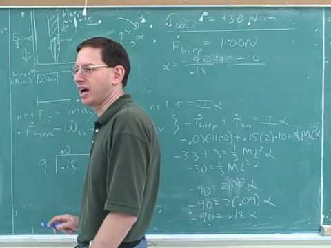 Rotational statics and dynamics problems (9)