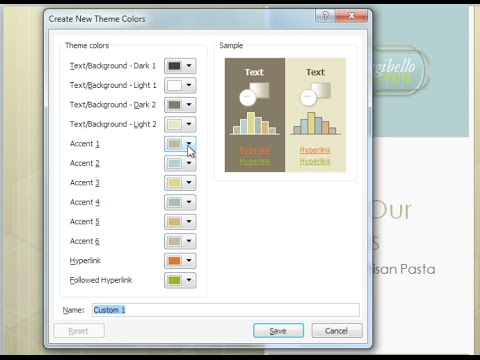 PowerPoint 2010: Modify Themes