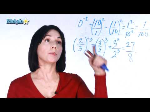 Negative Exponents - Continued