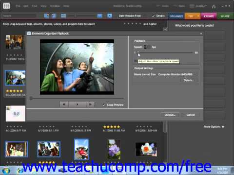 Photoshop Elements 9.0 Tutorial Flipbooks Adobe Training Lesson 16.6