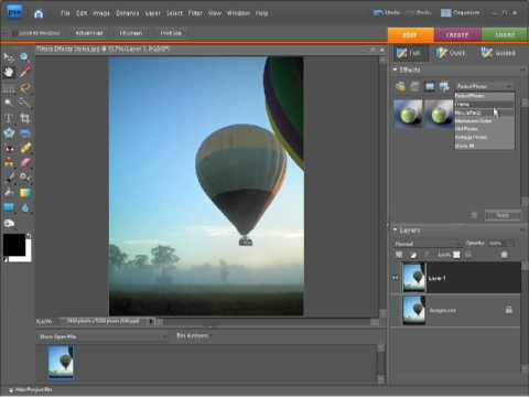 Photoshop Elements 7 Tutorial - Applying photo effects