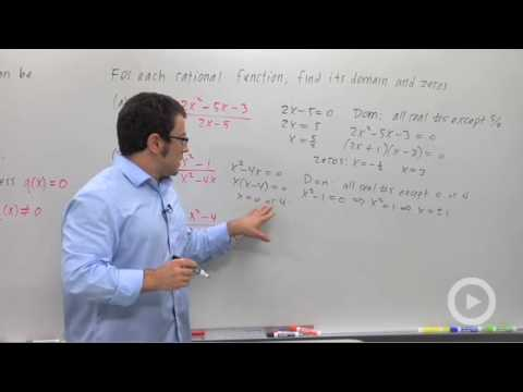 Precalculus - Introduction to Rational Functions