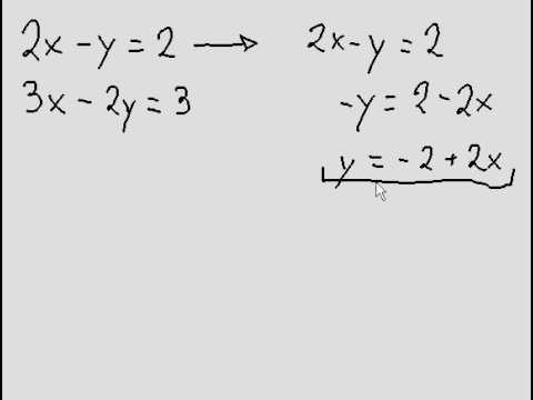 Systems of Equations - 2 variables