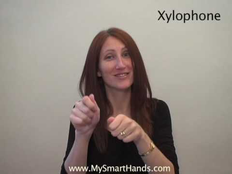 xylophone - ASL sign for xylophone
