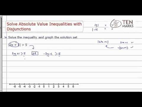 Solve Absolute Value Inequalities with Disjunctions