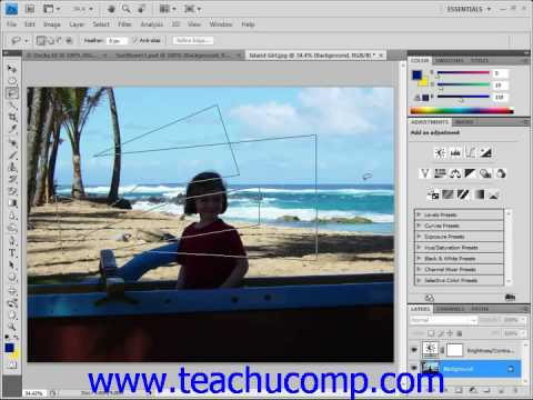 Photoshop Tutorial The Lasso Tool Adobe Training Lesson 7.5