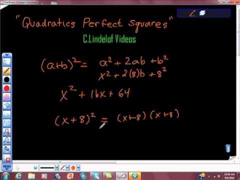 Quadratics and Perfect Squares