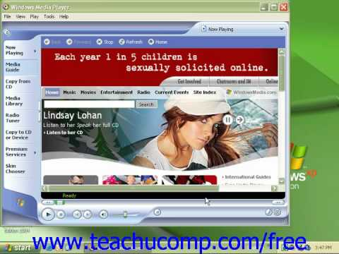 Windows XP Tutorial Playing Music Microsoft Training Lesson 9.1
