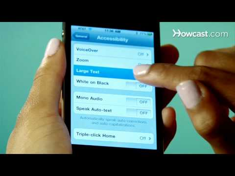 Quick Tips: How to Increase Font Size on the iPhone 4