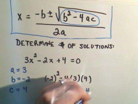 Using the Discriminant for Quadratic Equations