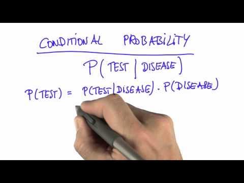 Summary - Intro to Statistics - Conditional Probability - Udacity