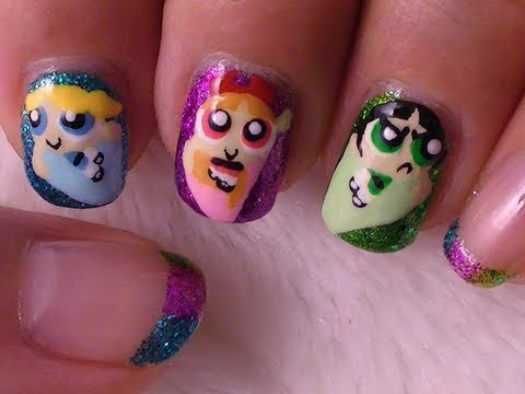 Powerpuff Girls Nail Art