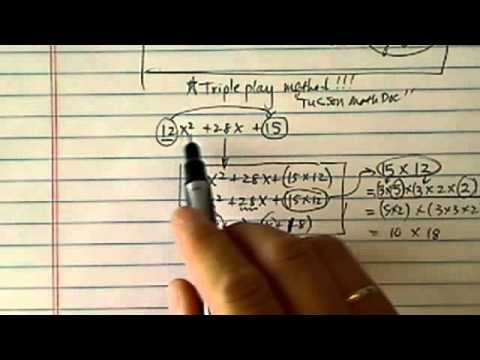 Shortcut to Factor Quadratics:  12x^2+28x+15