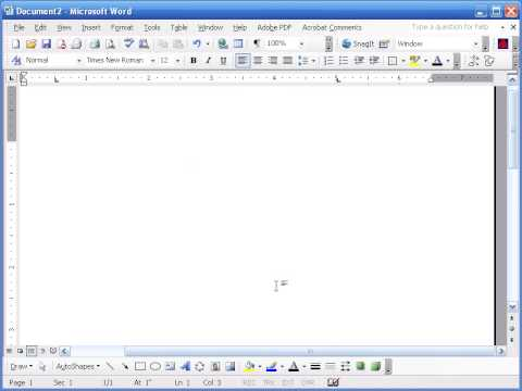 Setting up Word Document for Assignments