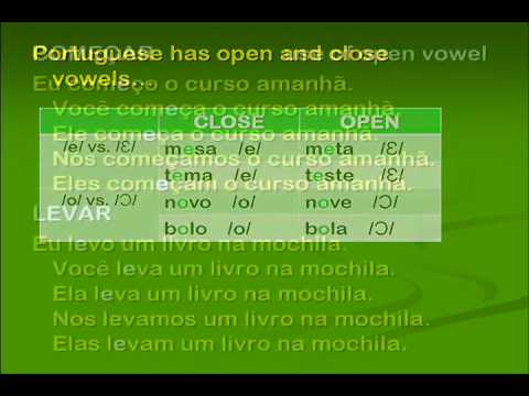 Present Tense Verb Conjugations in Brazilian Portuguese -- Close and Open Vowels