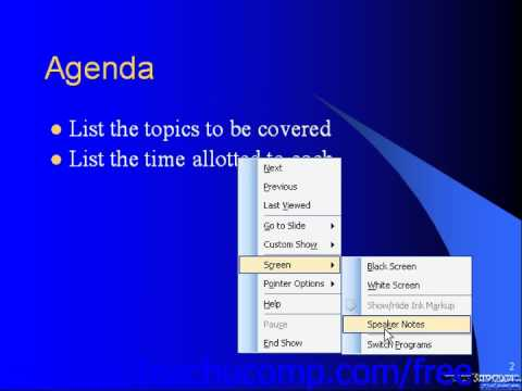 PowerPoint 2003 Tutorial Adding Speaker Notes Microsoft Training Lesson 14.3