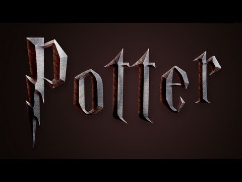 Photoshop: Harry Potter Text Effect (Deathly Hallows)
