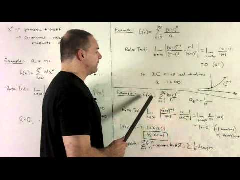 Power Series 1b - Interval of Convergence Using Ratio Test