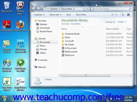 Windows 7 Tutorial Cutting, Copying & Pasting Files and Folders Microsoft Training Lesson 6.7