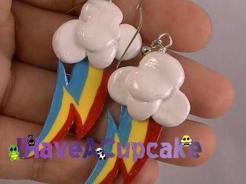 Rainbow Dash Inspired Earrings