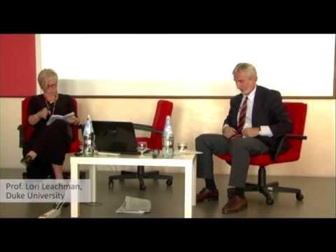 """VIU Lecture 2012: """"L'Europe se fera par la monnaie, ou.."""" by Aurel Schubert & Lori Leachman"""