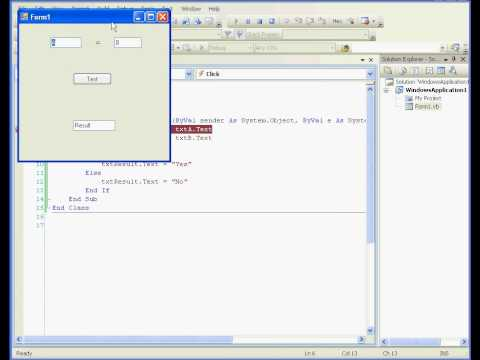 Visual Basic tutorial Debugging