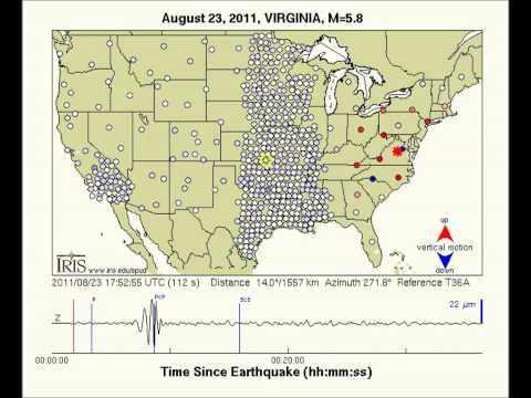 Virginia quake seismic waves march across the US