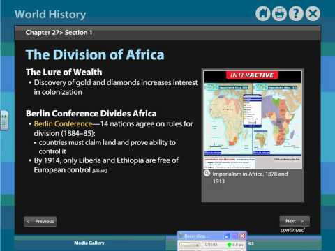Review  Chapter 27   Sections 1 2 Imperialism in Africa