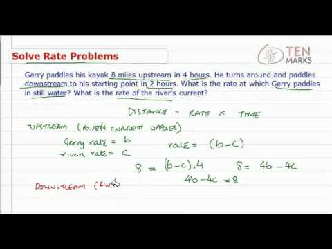 Solve Rate Problems