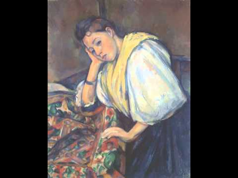 Young Italian Woman at a Table, Paul Cézanne