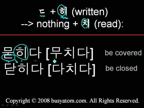 Read Korean Words #3 Palatalization 구개음화