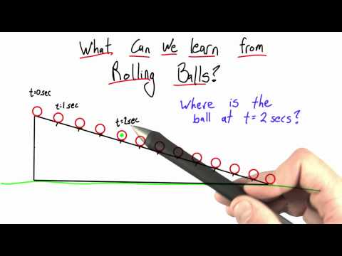 What Can We Learn from Rolling Balls Solution  - Intro to Physics - Motion - Udacity