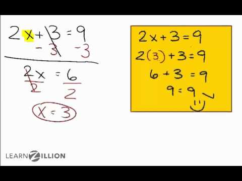 Solve equations of the form ax+b=c using inverse operations - 8.EE.7